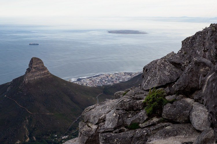 Lion's Head with Table Bay in the background