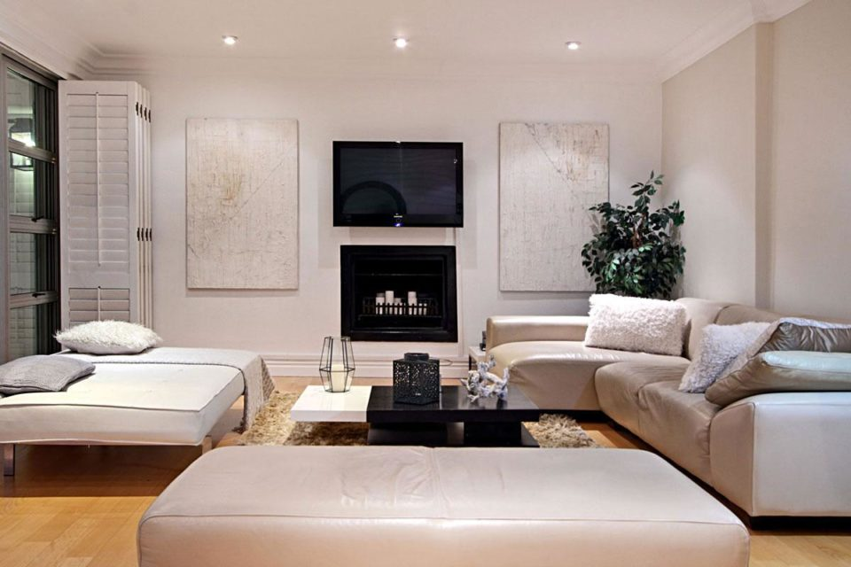 Villa Blanca - Lounge, fireplace & TV