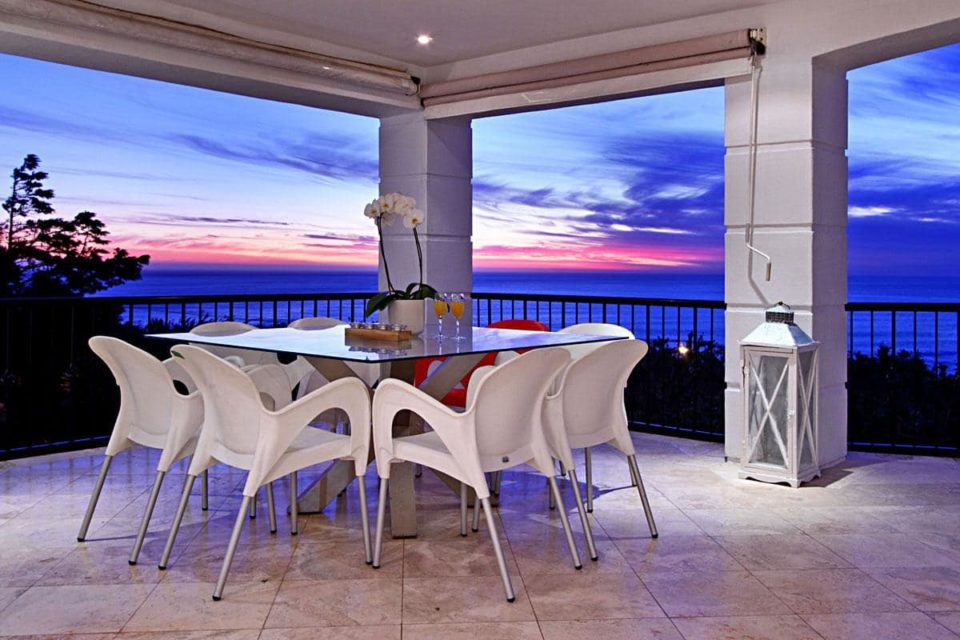 Villa Blanca - Patio at Sunset