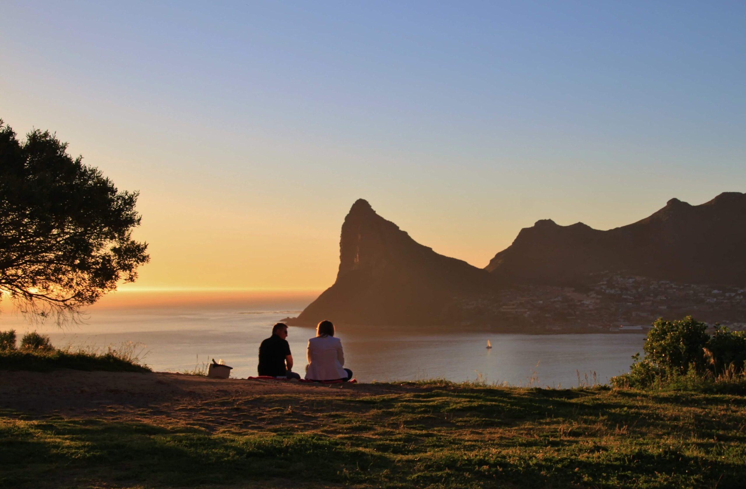 Sunset at Hout Bay in Cape Town, Western Cape