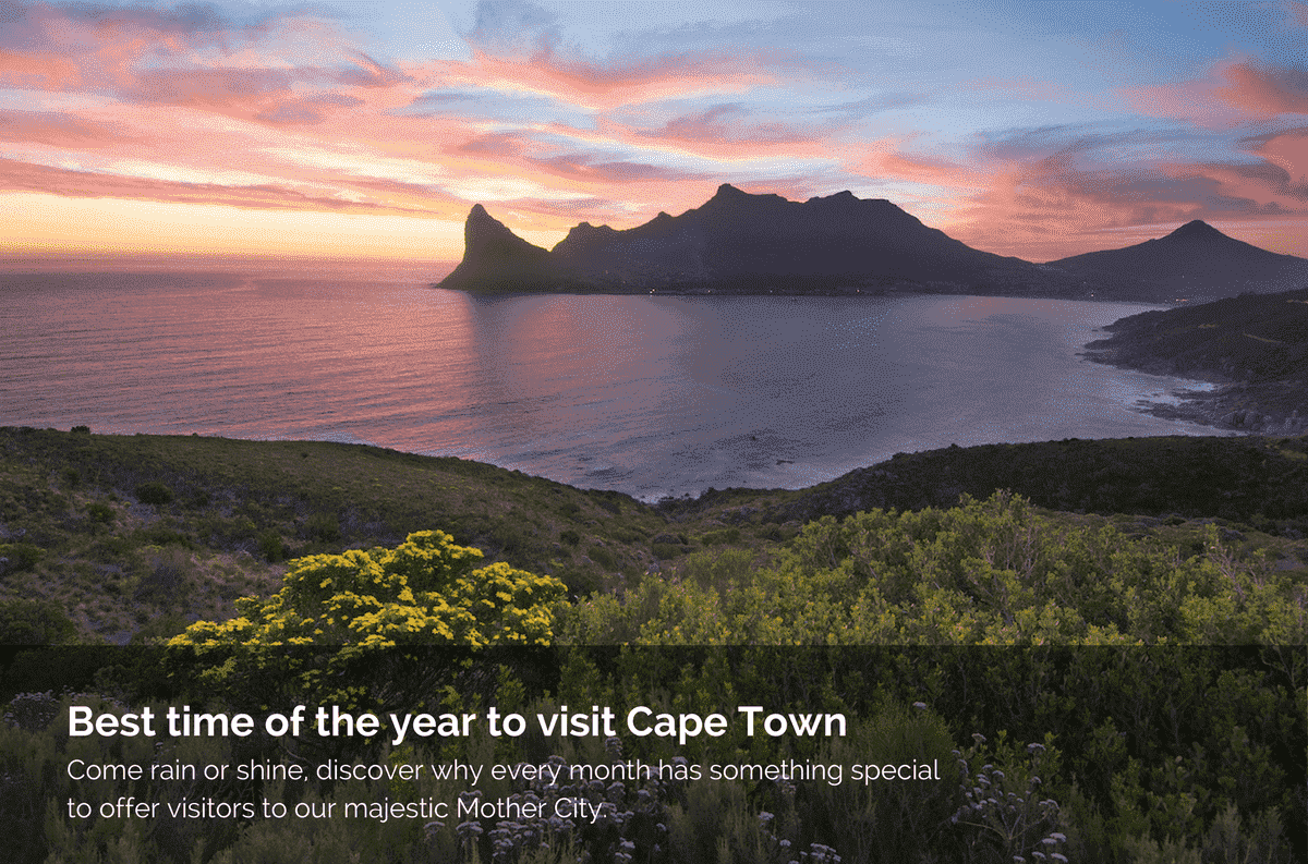 Best time of the year to visit Cape Town, South Africa
