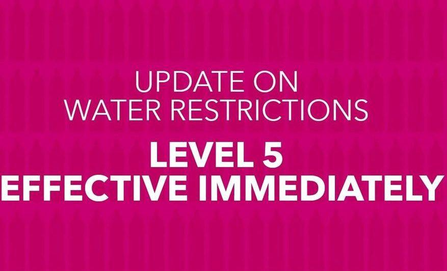 cape-town-level-5-water-restrictions