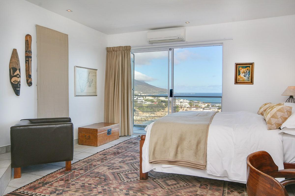 Camps bay terrace penthouse holiday apartment in camps bay Master bedroom with terrace
