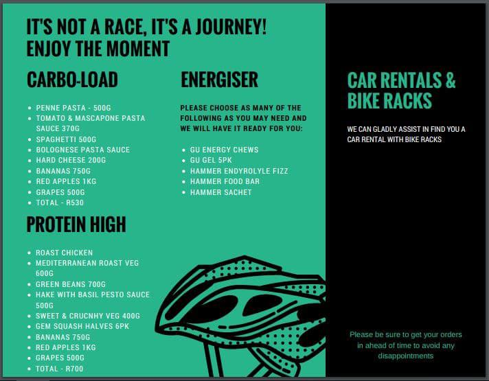 Cycle tour package