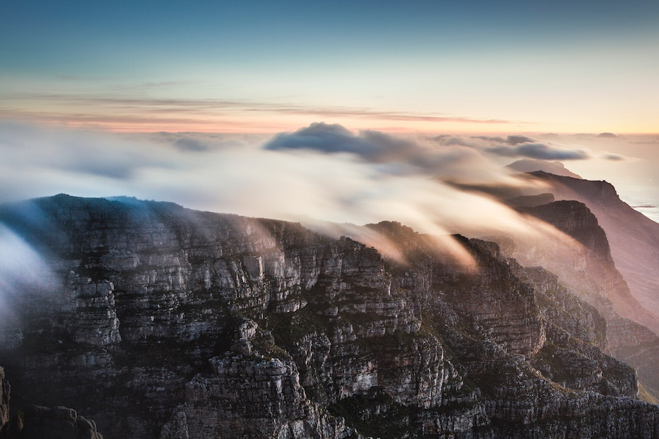 Table Mountain with a cloud blanket