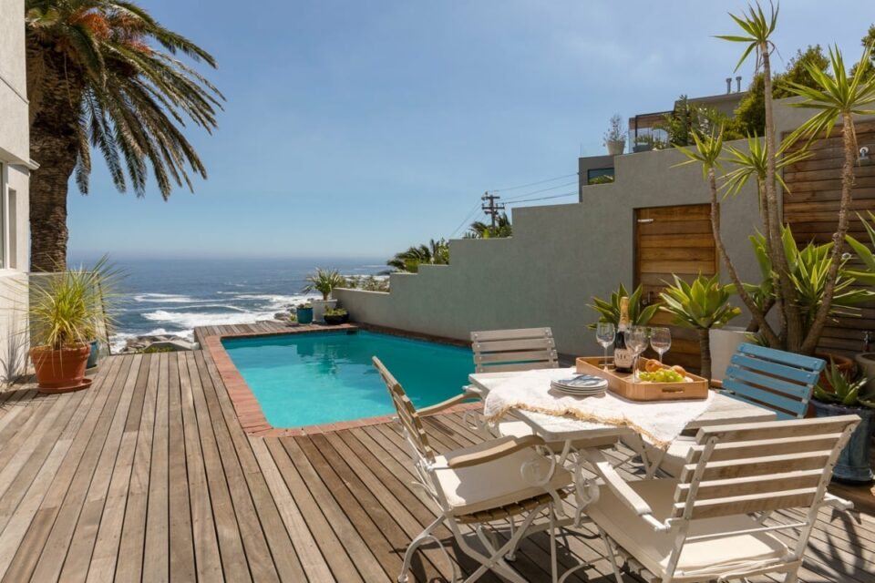 Beach Steps - Deck with pool and views