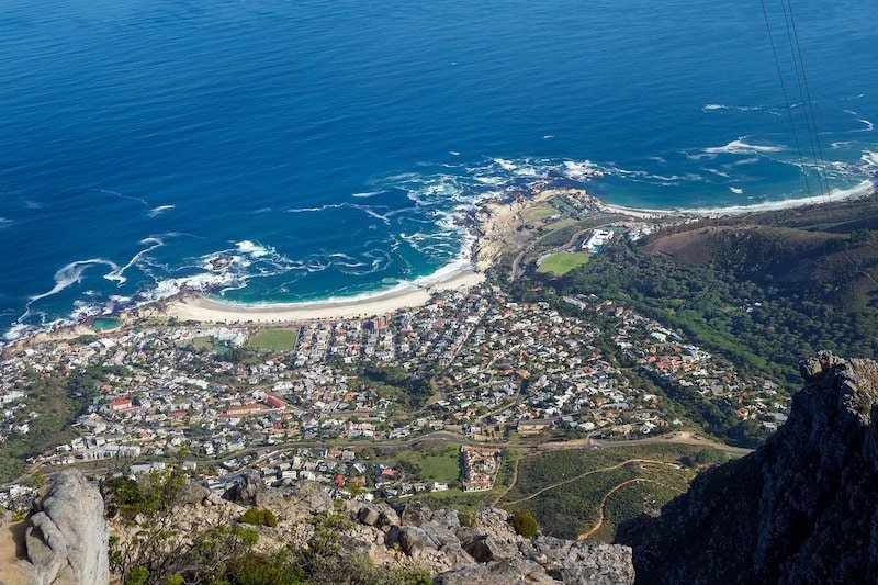 View of Camps Bay from Table Mountain