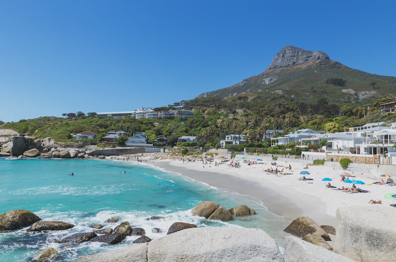 Camps Bay Beach with Lion's Head in the background